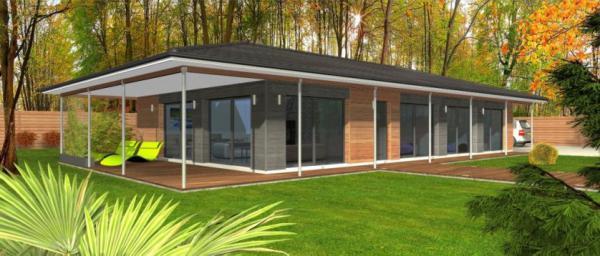 Maisons bois clairlande constructeur de maison individuelle sur achat terrain - Maison bois rectangulaire ...