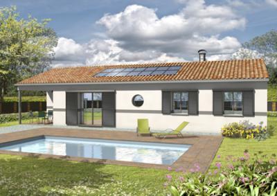 Mod le et plan de maison adagio avec terrasse couverte par - Modele de terrasse couverte ...