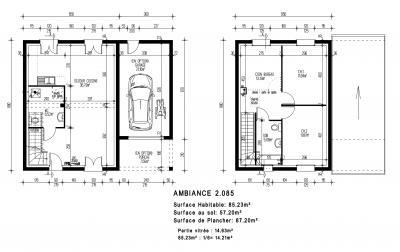 mod le ambiance par maisons pierre achat terrain. Black Bedroom Furniture Sets. Home Design Ideas