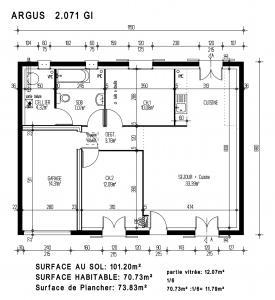 mod le argus par maisons pierre achat terrain. Black Bedroom Furniture Sets. Home Design Ideas
