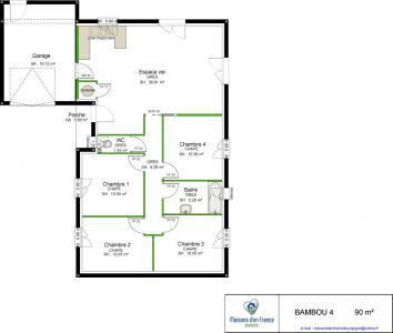 Mod le et plan de maison bambou par le constructeur for Modele maison d en france