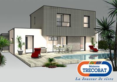 Mod le et plan de maison bi box par le constructeur for Modele maison trecobat