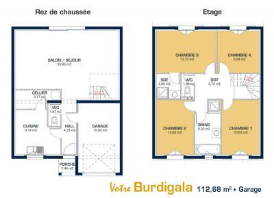 Mod le et plan de maison burdigala par le constructeur maisons de la cote atlantique - Maison de la cote atlantique ...