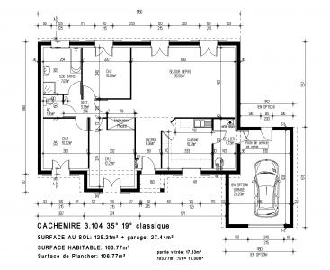 Mod le et plan de maison cachemire par le for Maison pierre modele orleans