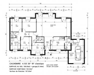 mod le et plan de maison cachemire par le. Black Bedroom Furniture Sets. Home Design Ideas