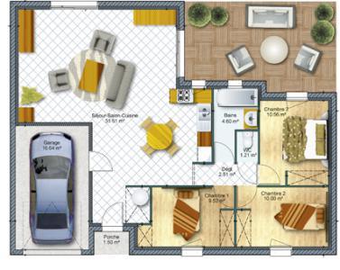 Mod le et plan de maison cantabile avec d croch fa ade for Modele maison d en france