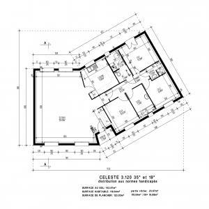 Modèle et plan de maison  CELESTE 3.120 , 120.00 m²