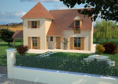 mod le et plan de maison ch telaine 120 t par le constructeur maisons france confort. Black Bedroom Furniture Sets. Home Design Ideas
