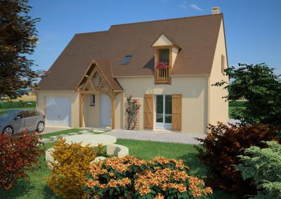 mod le et plan de maison ch telaine 140 par le constructeur maisons france confort. Black Bedroom Furniture Sets. Home Design Ideas