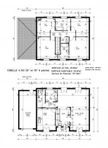 mod le et plan de maison cibelle par le constructeur. Black Bedroom Furniture Sets. Home Design Ideas