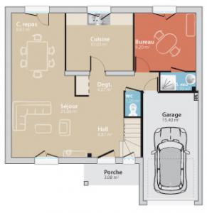 Mod le et plan de maison city 130 g par le constructeur for Forum maison france confort