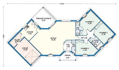 Mod le et plan de maison cognac par le constructeur for Plan de cognac