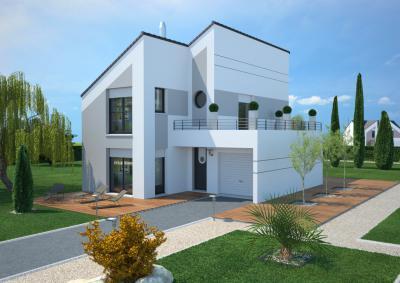 mod le et plan de maison concept 100 par le constructeur maisons france confort. Black Bedroom Furniture Sets. Home Design Ideas