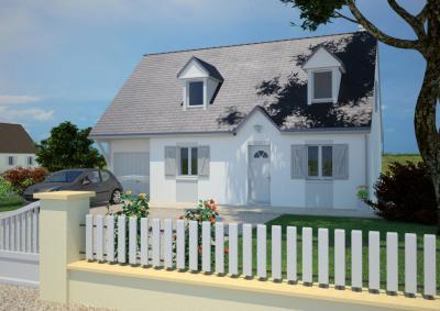 mod le et plan de maison cottage 120 par le constructeur maisons france confort. Black Bedroom Furniture Sets. Home Design Ideas