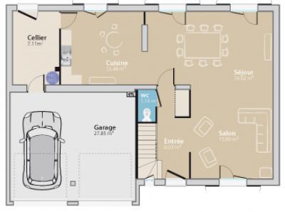 ... Modèle Et Plan De Maison : Cottage 120 L GG   120.00 M² ...