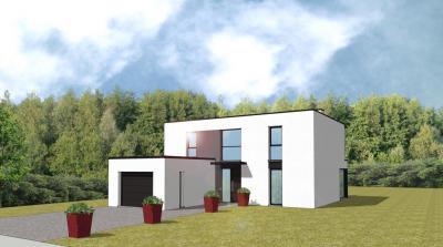 Mod le et plan de maison cubique par le constructeur for Modele maison cubique