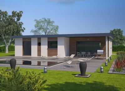 mod le et plan de maison eco concept 100 par le constructeur maisons france confort. Black Bedroom Furniture Sets. Home Design Ideas
