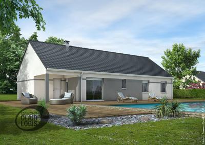 mod le et plan de maison eglantine par le constructeur maisons clair logis. Black Bedroom Furniture Sets. Home Design Ideas