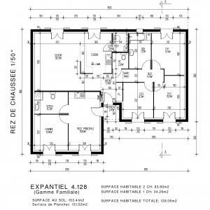 Mod le et plan de maison expantiel par le for Maison pierre modele noctuelle