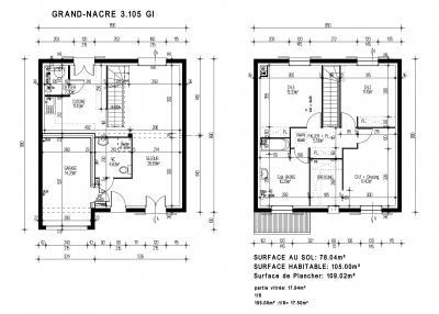 mod le grand nacre gi par maisons pierre achat terrain. Black Bedroom Furniture Sets. Home Design Ideas