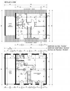 Modèle et plan de maison  IDYLLE 4.109 , 109.00 m²