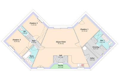 Mod le et plan de maison jade par le constructeur maisons for Plan maison mca