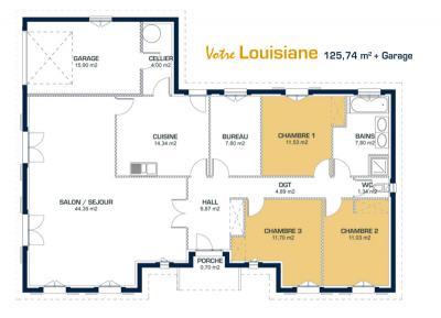 plan maison louisiane