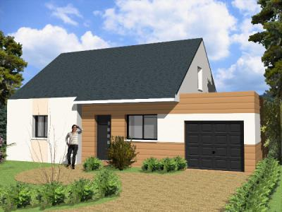 Mod le et plan de maison modula garage toit terrasse par for Credit achat garage
