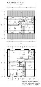 Mod le et plan de maison noctuelle gi par le for Maison pierre modele noctuelle