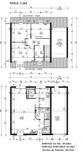 mod le perle par maisons pierre achat terrain. Black Bedroom Furniture Sets. Home Design Ideas