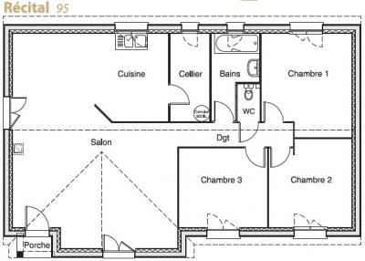 plan de maison hexagonale
