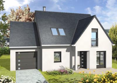 mod le et plan de maison rubato avec porche par le constructeur maisons d 39 en france. Black Bedroom Furniture Sets. Home Design Ideas