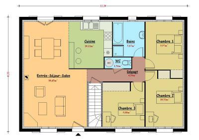 Plan maison bruno petit for Constructeur de maison hautes pyrenees