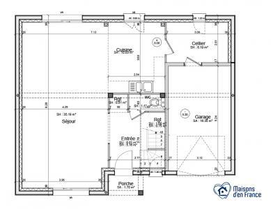 Mod le et plan de maison saphir par le constructeur for Modele maison d en france