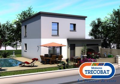 Mod le et plan de maison tendance 3 par le constructeur for Modele maison trecobat
