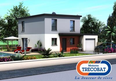 Mod le et plan de maison tendance 4 par le constructeur for Modele maison trecobat