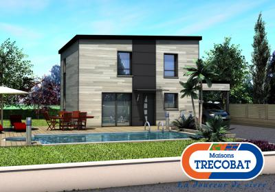 Mod le et plan de maison woodbox par le constructeur for Modele maison trecobat